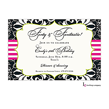 Brocade Black Invitation