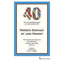 40 Stripes Invitation
