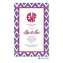 Ikat - Purple Invitation