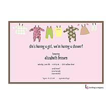 Pink Line Invitation