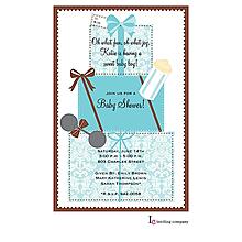 Gifts Blue Invitation