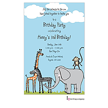 Safari Animals Invitation