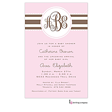Blush Ribbon Invitation