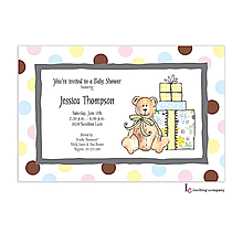 Baby Shower Bear Invitation