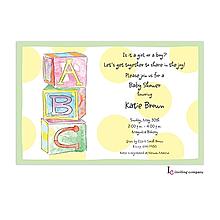 Baby Blocks Invitation