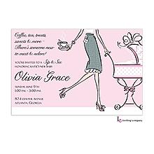 Tea Mom Pink Invitation