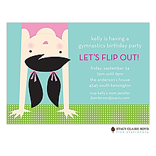 Topsy Turvy Party Invitation