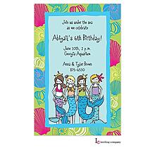 Little Mermaids Invitation
