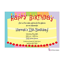 Round Cake Invitation