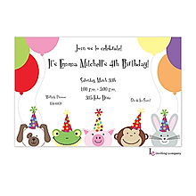 Peeking Friends Invitation