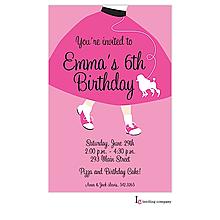 Poodle Skirt Invitation