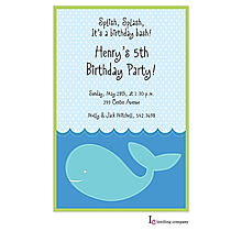 Stitched Whale Invitation