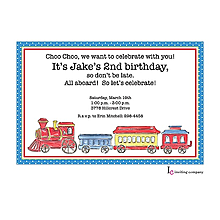 Choo Choo Invitation