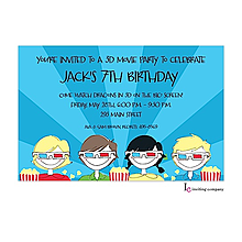 3D Movies Invitation