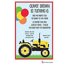 Farm Tractor Invitation