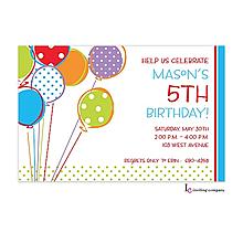 Bright Balloons Invitation