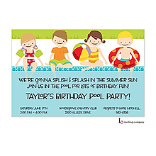Poolside Kids Invitation