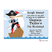 Ahoy Boy Invitation