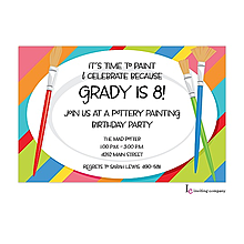 Paint Plates Invitation