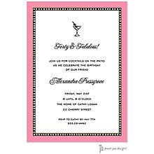 Beaded Border Deep Pink Invitation