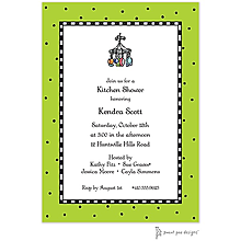 Checks & Dots Lime Invitation