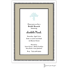 Antique Bead Border Taupe Invitation
