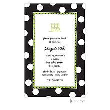 Big Dots Black & White Invitation