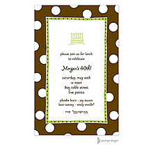 Big Dots Chocolate & Lime Invitation