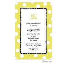 Big Dots Limeade & Black Invitation
