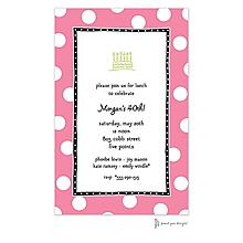 Big Dots Deep Pink & Black Invitation