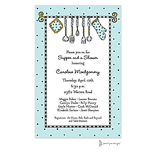 Kitchen Utensils Aqua Invitation