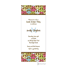 Peace Signs Multi Invitation