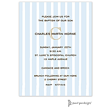 Just Stripes Blue Invitation