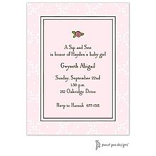 Trellis Pink & Chocolate Invitation