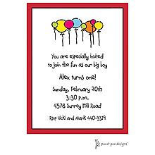 Classic Edge Red Invitation