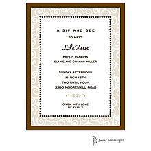 Scrollwork Latte Invitation