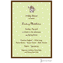 Little Dots Lime & Chocolate Invitation