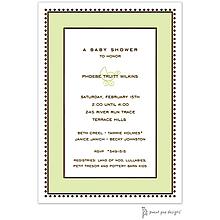 Antique Bead Border Lime Invitation