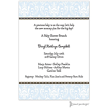 Damask Blue Invitation