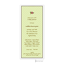 Sweet Dots Lime Invitation