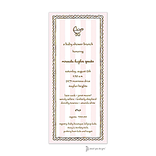 Stripes & Lace Pink Invitation