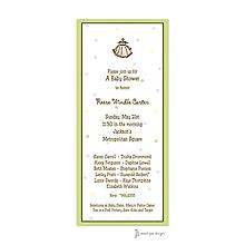 Little Dots Multi & Lime Invitation