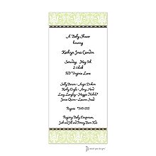 Damask Lime Invitation