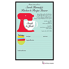 Mixer Recipe Invitation