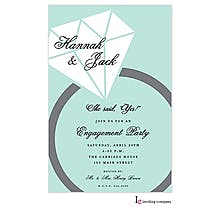 Sparkly Ring Engagement Party Invitations