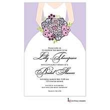 Bouquet Bride Invitation