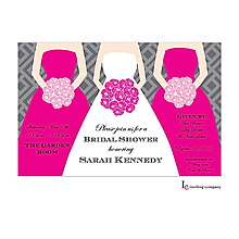 Pink Bouquets Invitation