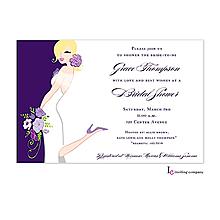 Plum Bride Invitation