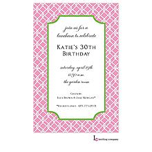 Pink Weave Invitation