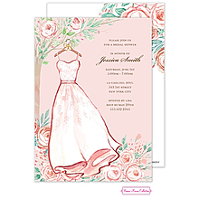 Blush Rose Dress Invitation